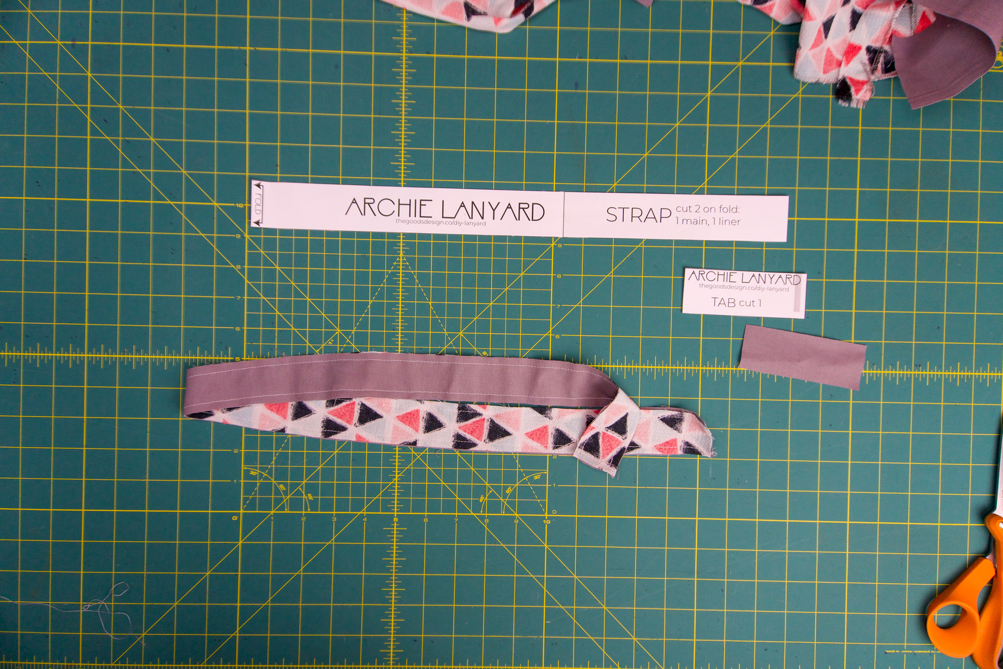 Strap sewn together on both long ends
